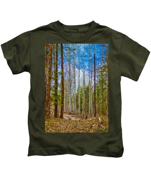 River Run Trail At Arrowleaf Kids T-Shirt