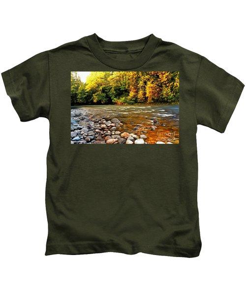 River Sunset Kids T-Shirt