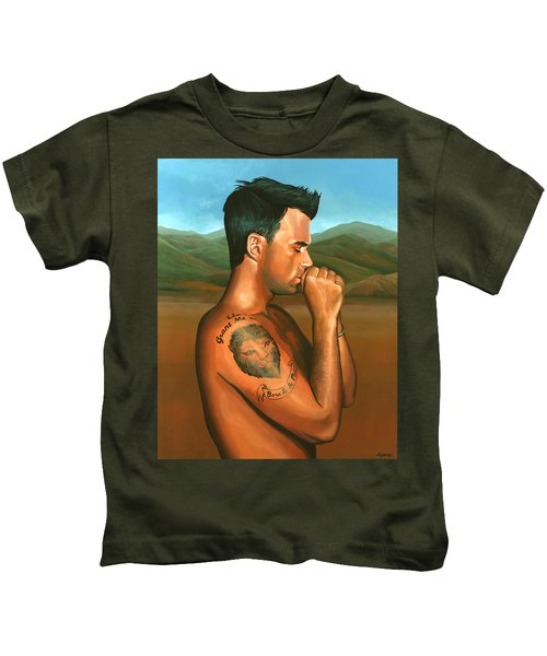 Robbie Williams 2 Kids T-Shirt by Paul Meijering