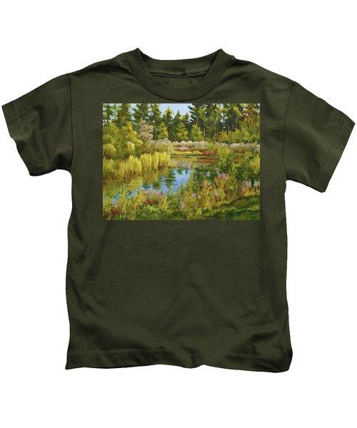 Rock Valley Pond Rockford Il Kids T-Shirt