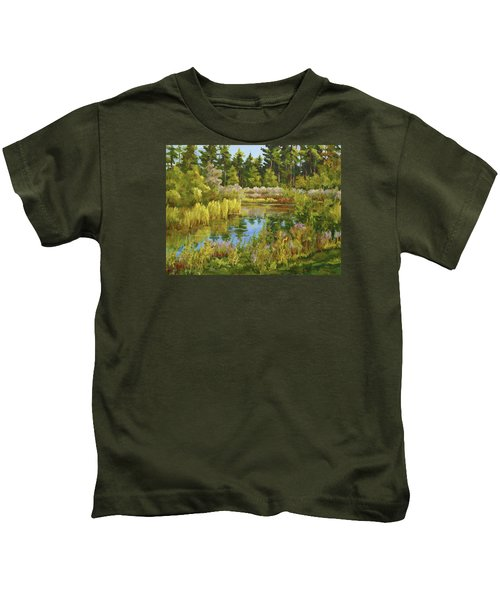 Rock Valley Pond Rockford Il Kids T-Shirt