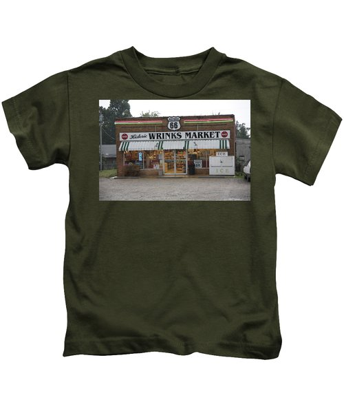 Route 66 - Wrink's Market Kids T-Shirt
