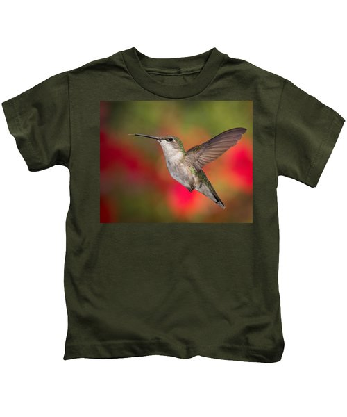 Ruby Throated Hummingbird Kids T-Shirt