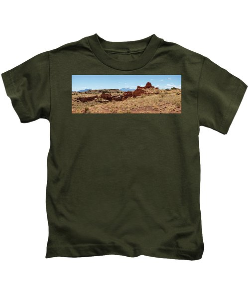 Ruins Of A Building, Lomaki Pueblo Kids T-Shirt