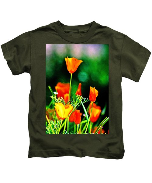 Sacramento Delta Poppies Kids T-Shirt