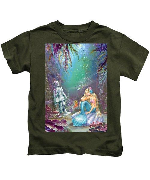 Sad Little Mermaid Kids T-Shirt