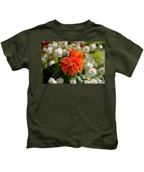 Safflower Amongst The Gypsophilia Kids T-Shirt
