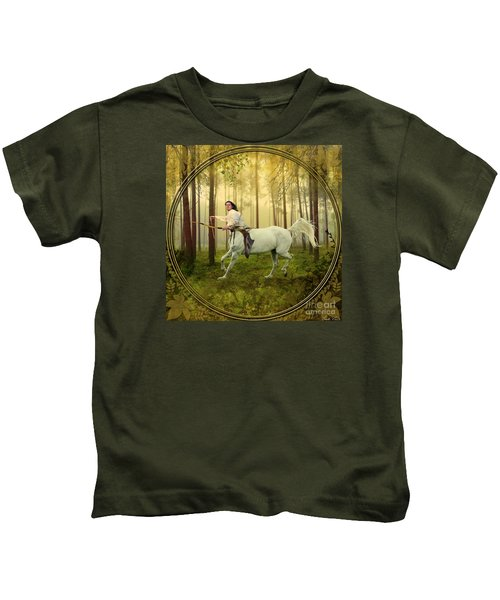 Sagittarius Kids T-Shirt by Linda Lees
