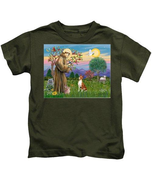 Saint Francis Blesses A Basenji Kids T-Shirt
