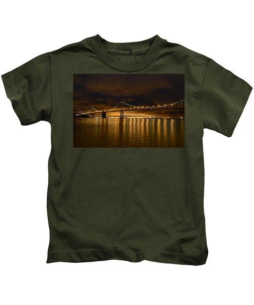 San Francisco - Bay Bridge At Night Kids T-Shirt