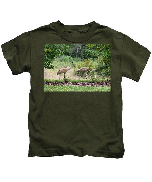 Sandhills Through The Crepe Myrtles Kids T-Shirt