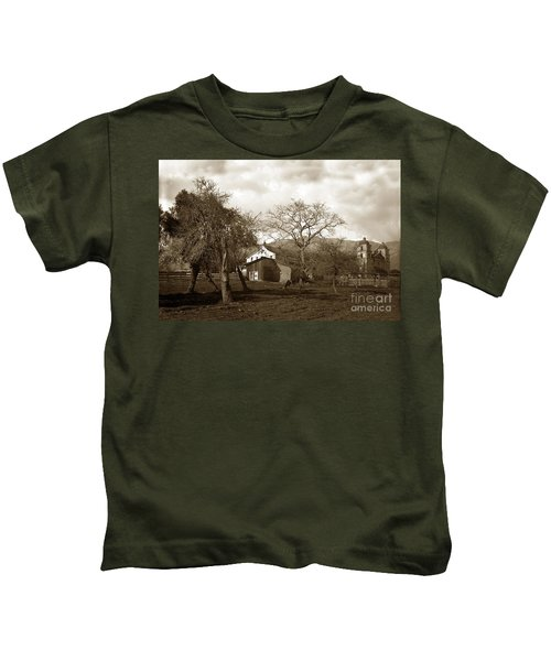 Santa Barbara Mission California Circa 1890 Kids T-Shirt