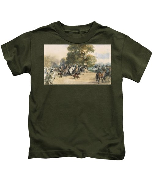 Scene In Hyde Park Kids T-Shirt