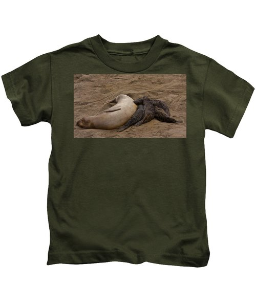 Seal And Pups Kids T-Shirt