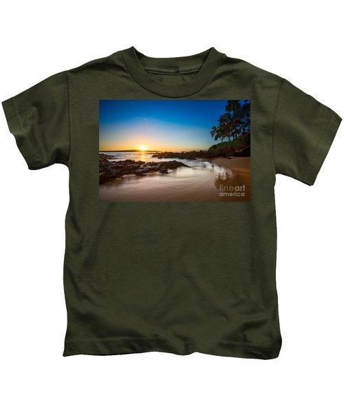Secret Beach Sunset Kids T-Shirt