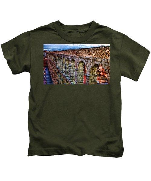 Segovia Aqueduct Spain By Diana Sainz Kids T-Shirt