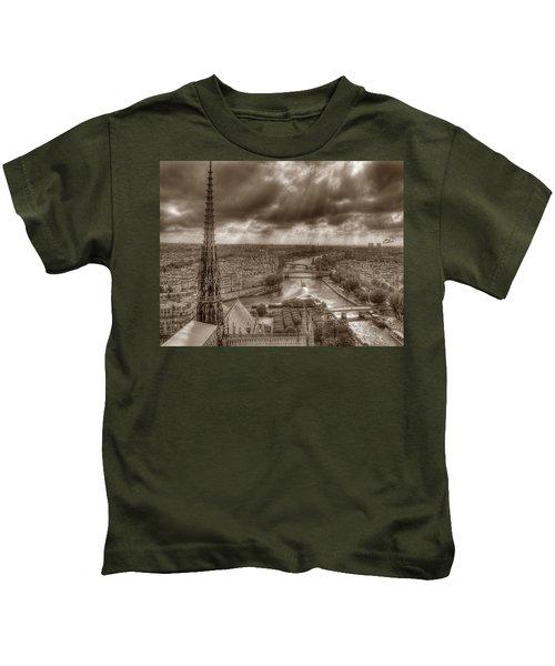 Seine From Notre Dame Kids T-Shirt