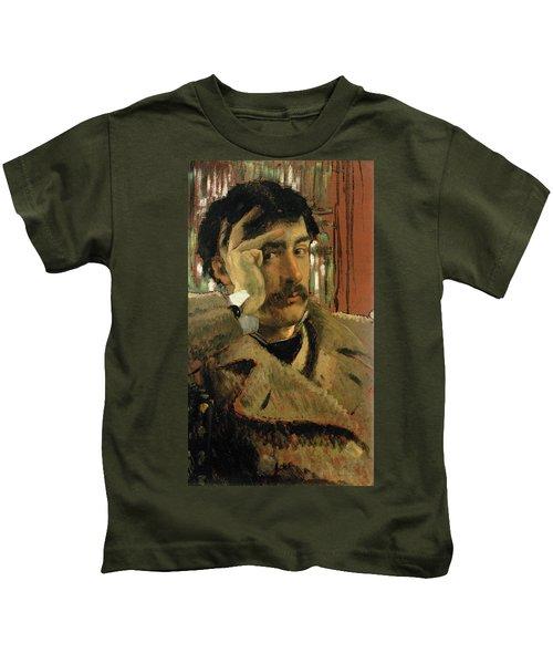 Self Portrait, C.1865 Panel Kids T-Shirt