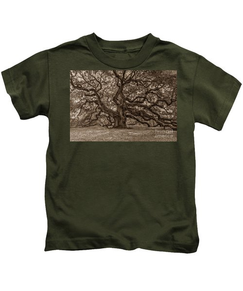Sepia Angel Oak Kids T-Shirt