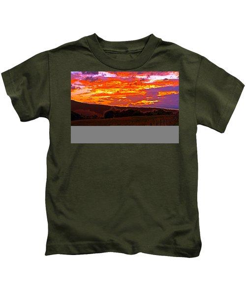 September Smokies Sunrise Kids T-Shirt