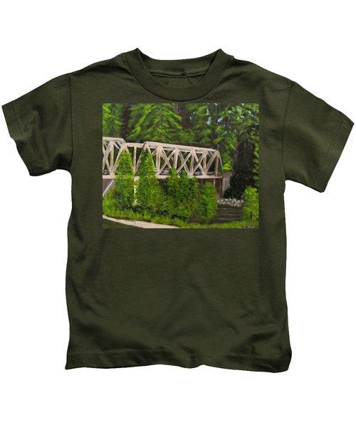 Sewalls Falls Bridge Kids T-Shirt