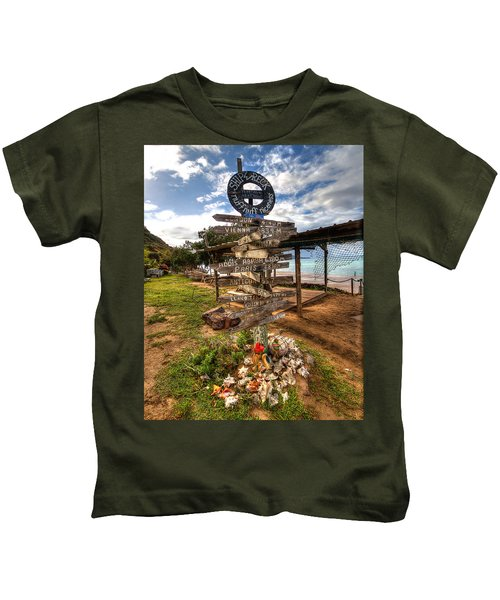Shipwreck Beach Kids T-Shirt