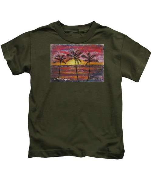 Island Silhouette  Kids T-Shirt