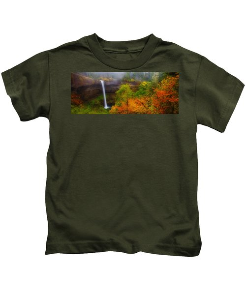 Silver Falls Pano Kids T-Shirt