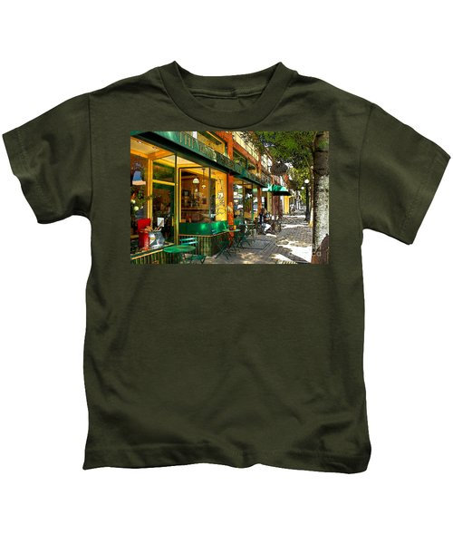Sitting At The Bakery Kids T-Shirt