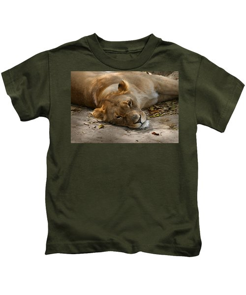 Sleepy Lioness Kids T-Shirt