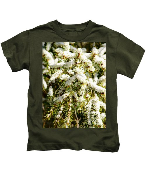 Snowy Pines Kids T-Shirt