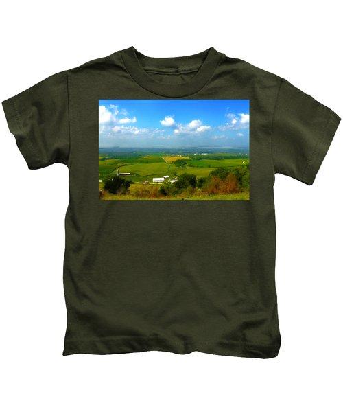 Southern Illinois River Basin Farmland Kids T-Shirt