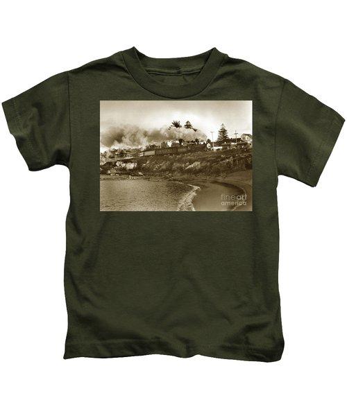 Southern Pacific Del Monte Passenger Train Pacific Grove Circa 1954 Kids T-Shirt