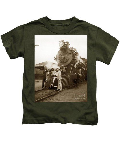S P Baldwin Locomotive 2285  Class T-26 Ten Wheel Steam Locomotive At Pacific Grove California 1910 Kids T-Shirt
