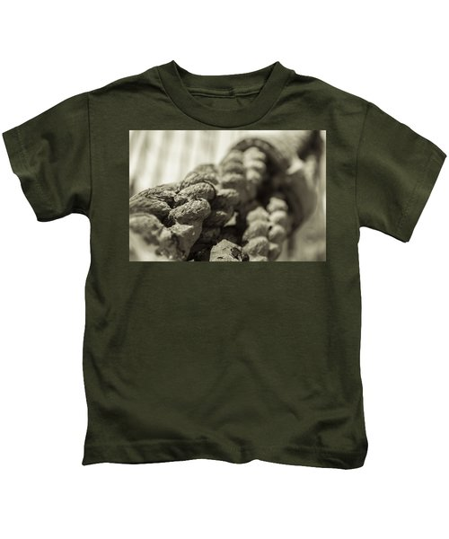 Spliced And Bound Black And White Sepia Kids T-Shirt