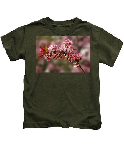 Cheery Cherry Blossoms Kids T-Shirt