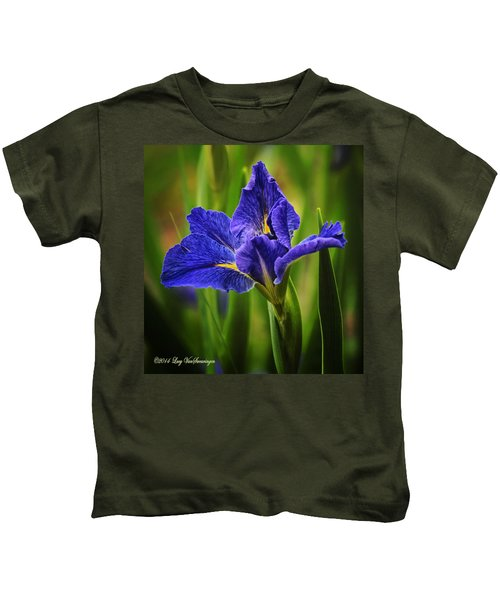 Spring Blue Iris Kids T-Shirt
