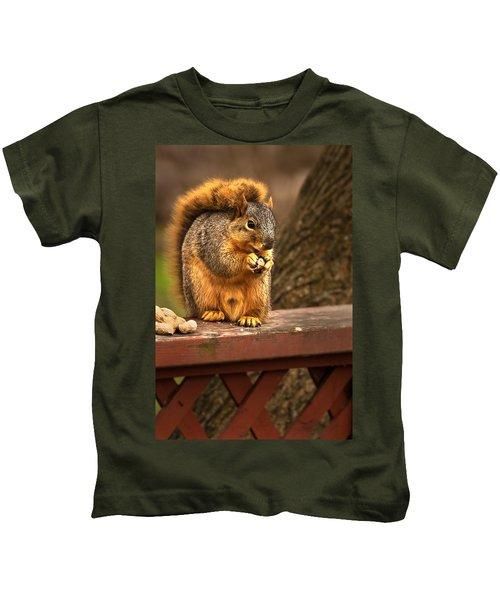 Squirrel Eating A Peanut Kids T-Shirt