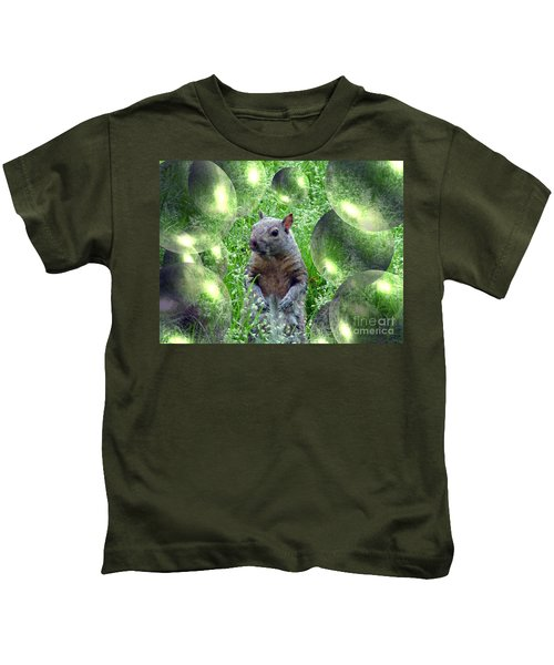 Squirrel In Bubbles Kids T-Shirt