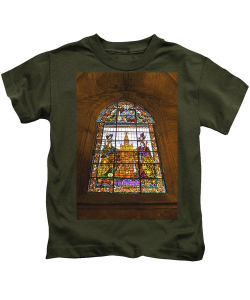 Stained Glass Window In Seville Cathedral Kids T-Shirt