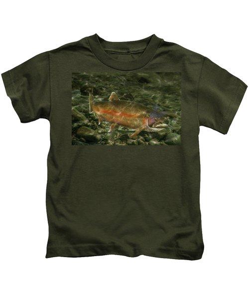 Steelhead Trout Spawning Kids T-Shirt