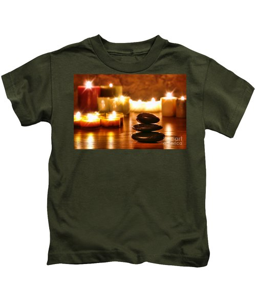 Stones Cairn And Candles Kids T-Shirt