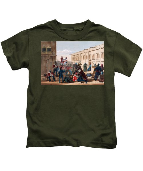Storming Of Khelat, The Troops Entering Kids T-Shirt