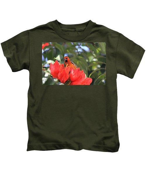 Streak-backed Oriole Kids T-Shirt
