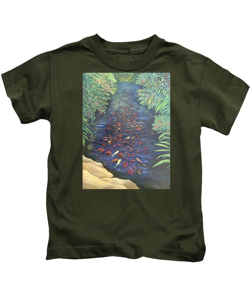 Stream Of Koi Kids T-Shirt