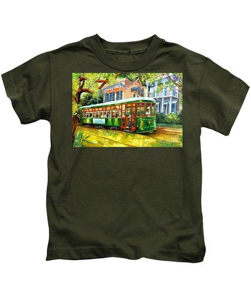 Streetcar On St.charles Avenue Kids T-Shirt
