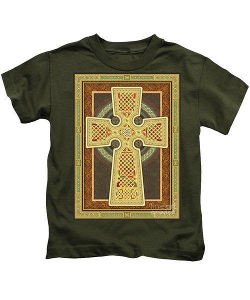 Stylized Celtic Cross Kids T-Shirt