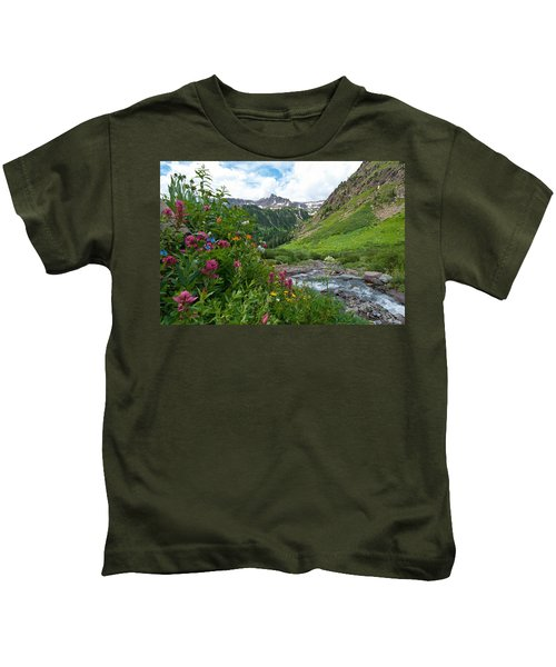Summer In The San Juans Kids T-Shirt