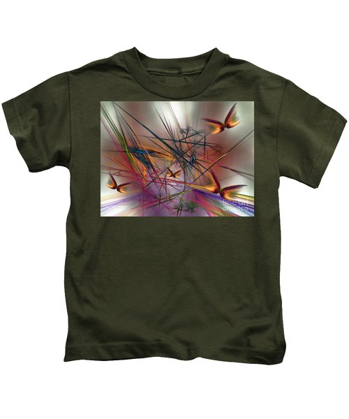 Sunny Day-abstract Art Kids T-Shirt