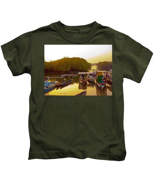 Sunrise Over Gambian Creek Kids T-Shirt